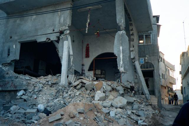 Destroyed house in Jenin